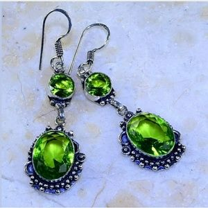 Peridot .925 Handmade Earrings